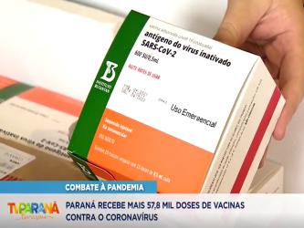 Paraná recebe novas doses da Coronavac e inicia logística para distribuir 367 mil vacinas