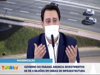 Governo do Paraná anuncia R$ 4 bilhões em obras de infraestrutura