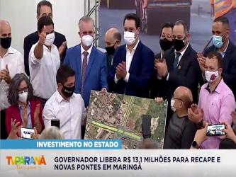 No aniversário de Maringá, governador libera R$ 13,1 milhões para recape e novas pontes
