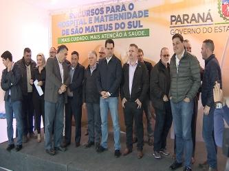 Governador autoriza obras do Hospital de São Mateus do Sul
