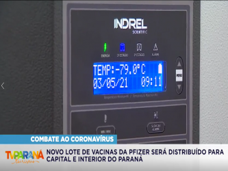 Novo lote de vacinas da Pfizer será distribuído para Capital e Interior do Paraná