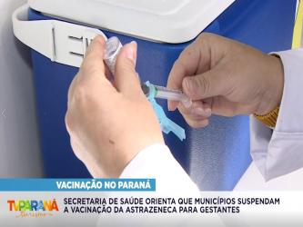SAÚDE ORIENTA A SUSPENSÃO DO USO DE VACINAS ASTRAZENECA/FIOCRUZ PARA GESTANTES
