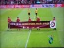 Atlético exibe faixa da Campanha Conte até 10