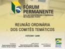 Reunião Ordinária dos Comitês Temáticos do Fórum Nacional