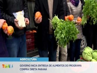 Governo do Estado faz primeira entrega de alimentos do Compra Direta em Curitiba