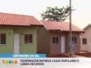 Governo entrega casas populares e libera recursos em Centenário do Sul e Itaguajé